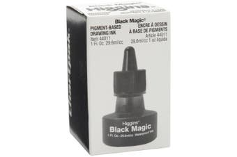 Higgins Black Magic Pigmented Ink Waterproof 1oz (44011), Other, Multicoloured, 6.77 x 6.77 x 9.74 cm