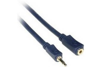 (25 Feet/7.62 Metres, Blue) - C2G / Cables to Go 40628 Velocity 3.5mm Male/Female Mono Audio Extension Cable, Blue (25 Feet/7.62 Metres)