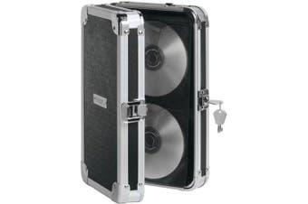 (48 CD) - Vaultz Locking CD Wallet, 48 CD Capacity, 2.5 x 29cm x 18cm , Black (VZ01137)