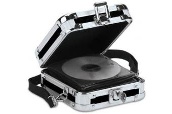 (32 CD) - Vaultz Locking CD Wallet, 32 CD Capacity, 3.5 x 22cm x 17cm , Black (VZ01103)