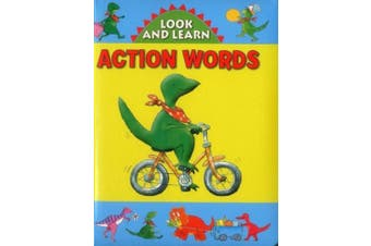 Look and Learn with Little Dino: Action Words [Board book]