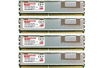 (8GB (4X2GB)) - Komputerbay 8GB (4x 2GB) DDR2 PC2-5300F 667MHz CL5 ECC Fully Buffered 2Rx4 FB-DIMM (240 PIN) w/ Heatspreaders