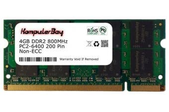 (4GB) - Komputerbay 4GB DDR2 SODIMM (200 pin) 800Mhz PC2 6400 / PC2 6300 CL 6.0