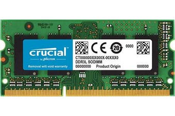 (4 GB, 1333 MT/s Mac) - Crucial 4 GB DDR3 1333 MT/s (PC3-10600) CL9 SODIMM 204-Pin 1.35V/1.5V for Mac