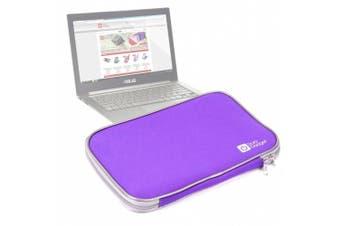 Sleek Purple Water Resistant Neoprene Protective Laptop Sleeve For Packard Bell Dot A, Dell XPS 13 Ultrabook & ASUS Zenbook UX31