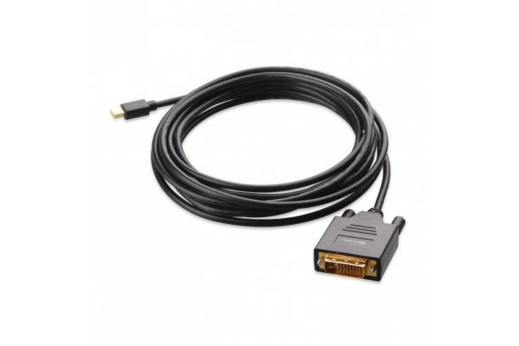 (4.6m, Black) - Cable Matters Gold Plated Mini DisplayPort | Thunderbolt to DVI Cable in Black 4.6m