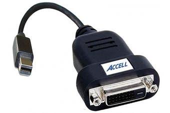 (Mini DisplayPort Active Adapter, Polybag) - Accell B087B-006B-2 UltraAV Mini DisplayPort to DVI-D Single-Link Active Adapter ATI Certified