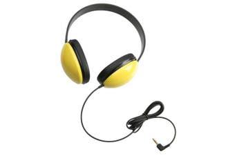 (1) - Califone International 2800-YL Listening First Stereo Headphones - Yellow