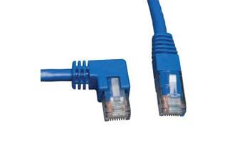 (1.5m, Left Angle Side) - Tripp Lite Cat6 Gigabit Moulded Patch Cable (RJ45 Left Angle M to RJ45 M) Blue, 1.5m(N204-005-BL-LA)