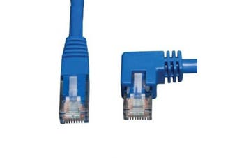 (0.9m, Right Angle Side) - Tripp Lite Cat6 Gigabit Moulded Patch Cable (RJ45 Right Angle M to RJ45 M) Blue, 0.9m(N204-003-BL-RA)