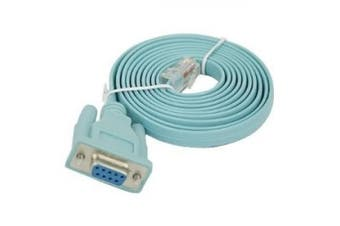 (Blue) - HDE E36 1.8 m RS232 9-Pin RJ-45 Blue Serial Cable – Serial Cables