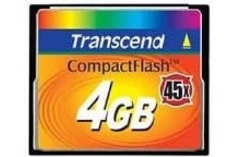 TS4GCF45 - Transcend 4GB Compact Flash Card (45X)