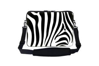 (Zebra Stripe) - 15 40cm Zebra Stripe Design Laptop Sleeve Bag Carrying Case with Hidden Handle & Adjustable Shoulder Strap for 36cm 38cm 40cm Apple Macbook, Acer, Asus, Dell, Hp, Sony, Toshiba, and More