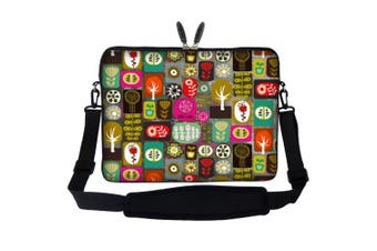 Meffort Inc 17 44cm Laptop Sleeve Bag Carrying Case with Hidden Handle and Adjustable Shoulder Strap - Symbol Design