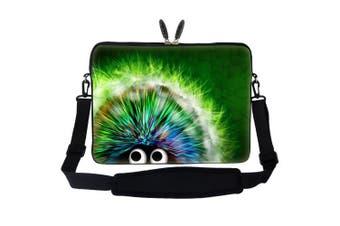 Meffort Inc 15 40cm Laptop Sleeve Bag Carrying Case with Hidden Handle and Adjustable Shoulder Strap - Cute Porcupine Design