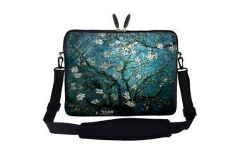 (Vincent van Gogh Almond Blossoming) - Meffort Inc 13 34cm Neoprene Laptop Carrying Case Sleeve Bag with Hidden Handle and Adjustable Shoulder Strap - Vincent van Gogh Almond Blossoming