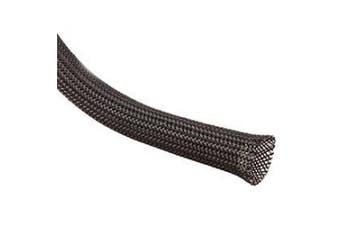 (1 Inch, 25 Feet) - Techflex CCP1.00BK25 Flexo Clean Cut 2.5cm Braided Cable Sleeve, Black - 7.6m