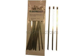 (36cm  Long, 100 Pieces) - Stainless Steel Cable Ties - 36cm - 100 Pieces