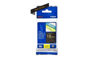 for Brother Tape, Gold on Black, 18mm (TZe344) - Retail Packaging
