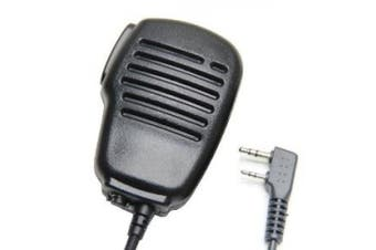 Rainproof 2-Pin Shoulder Remote Speaker Mic Microphone PTT For Kenwood Wouxun Puxing Baofeng Two Way Radio 2pin