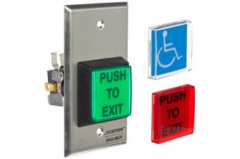 Securitron Single Gang 5.1cm Square Momentary Push Button, SPDT
