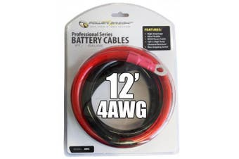 Power Bright 4-AWG12 4 AWG Gauge 3.7m Professional Series Inverter Cables 1000-1500 watt