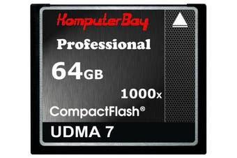 (64GB 1000X) - KOMPUTERBAY 64GB COMPACT FLASH CARD CF professional 1000X 150 MB / s speed RAW Extreme 64GB UDMA 7