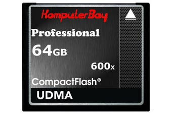 (64GB 600X UDMA 6) - KOMPUTERBAY 64GB Professional COMPACT FLASH CARD CF 600X 90MB/s Extreme Speed UDMA 6 RAW 64 GB