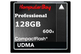 (128GB 600X UDMA 6) - Komputerbay 128GB Professional Compact Flash Card CF 600X 90MB/s Extreme Speed UDMA 6 RAW 128 GB