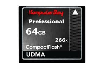 (64GB 266X) - Komputerbay 64GB High Speed Compact Flash CF 266X Ultra High Speed Card 36 MB / s write and 37MB / s read UDMA