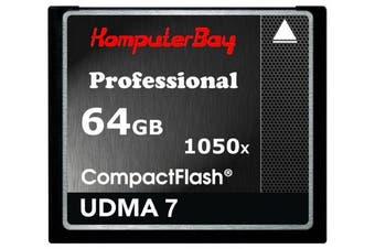 (64GB UDMA 7 1050X) - KOMPUTERBAY 64GB Professional COMPACT FLASH CARD CF 1050X WRITE 100MB/S READ 160MB/S Extreme Speed UDMA 7 RAW 64 GB