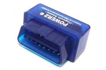 Bluetooth Supper Mini OBD 2 /Mini OBD II Compatible with Andriod Power 2-Blue