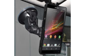 Amzer AMZ95854 Amzer Suction Cup Mount for Windshield, Dash or Console for Sony Xperia ZL L35a - Retail Packaging - Black