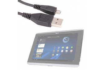 DURAGADGET High Quality Micro USB Data Sync Cable For Acer Iconia Tab A500 & W500 Tablets