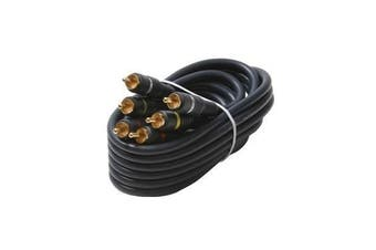 Black Point Products BA-136 Gold 3-RCA Python Cable, 0.9m x 0m