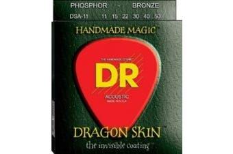 (DSA-11 Medium Light (11-50)) - DR Strings DSA-11 Coated Phosphor Bronze Acoustic Guitar Strings, Custom