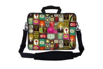 (Symbol Design) - Meffort Inc 15 40cm Neoprene Laptop Bag Sleeve with Extra Side Pocket, Soft Carrying Handle & Removable Shoulder Strap for 36cm to 40cm Size Notebook Computer - Symbol Design