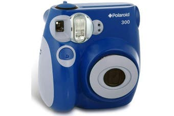 (Blue) - Polaroid PIC-300 Instant Camera in Blue + Accessory Kit