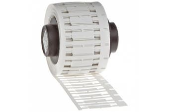 Brady PTDS-15-390 TLS 2200 and TLS PC Link 1.5cm Width x 0.4cm Height, B-390 Polypropylene, Matte Finish White DuraSleeve Wire Marker Insert (300 per Roll)