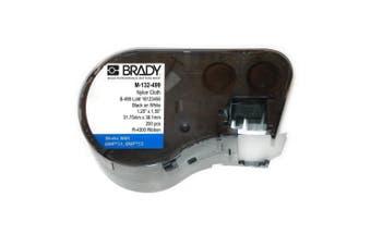 Brady M-132-499 Nylon Cloth B-499 Black on White Label Maker Cartridge, 3.8cm Width x 3.2cm Height, For BMP51/BMP53 Printers