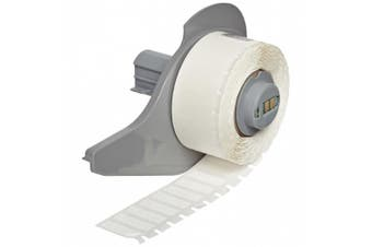 Brady M71-10-498 Repositionable Vinyl Cloth BMP71 Labels , White (750 Labels per Roll, 1 Roll per Package)