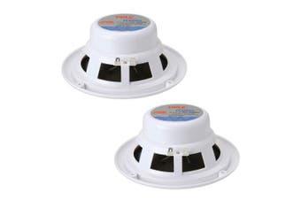 (White) - Pyle PLMR62 200 Watts 17cm 2 Way White Marine Speakers