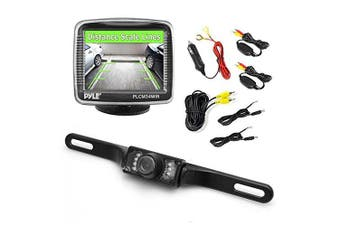 Pyle PLCM34WIR 8.9cm Monitor Wireless Back-Up Rearview and Night Vision Camera System