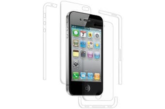 Amzer AMZ94903 ShatterProof Screen Guard Protector Shield for Apple iPhone 4/4S - 1 Pack - Retail Packaging - Full Body Coverage