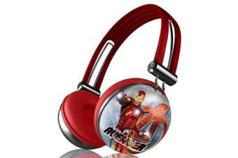 Marvel's The Avengers Movie Series Aviator Stereo Over Ear Headphones - IRON MAN