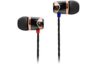 (Wired, Black/Gold) - SoundMAGIC E10 High Fidelity In Ear Headphones smartphone earphones high quality earbuds with Sound Insulation - Gold