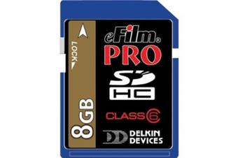 Delkin 8 GB Secure Digital (SD) PRO Class 6 150X Memory Card DDSDPRO2-8GB
