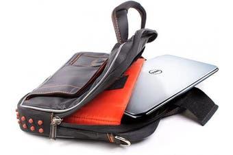 (Black & Orange) - DURAGADGET Black & Orange Protective Carry Bag - Compatible with Dell Inspiron Duo | Latitude 26cm & XPS 13 Ultrabook Laptops