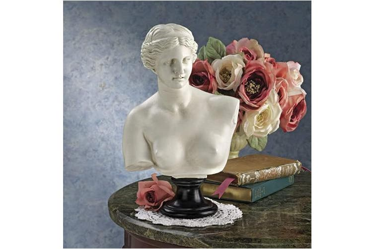 (30cm , Antique Stone) - Venus de Milo (2nd Century B.C.) Bust Statue