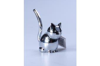 (Chrome, Cat) - Umbra Zoola Cat Ring Holder, Chrome